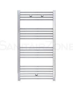 Belrad Handdoekradiator Zijaansluiting 1200x600mm 391 Watt Chroom